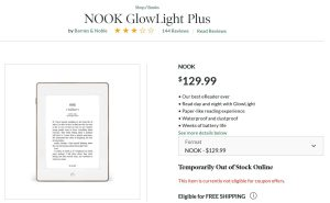 Barnes and Noble has discontinued the Nook Glowlight Plus