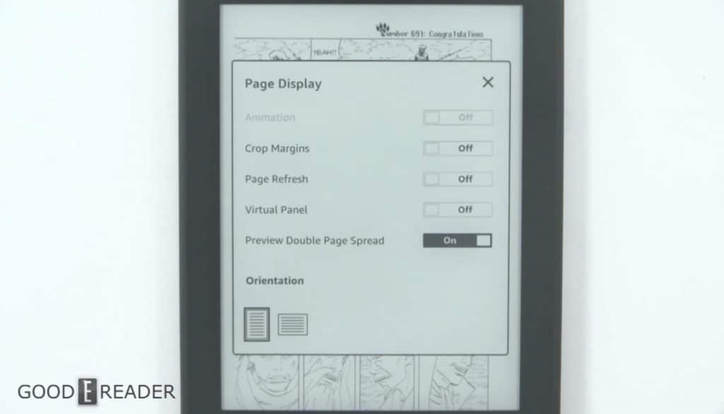 How does the Amazon Kindle Paperwhite 4 handle Manga?