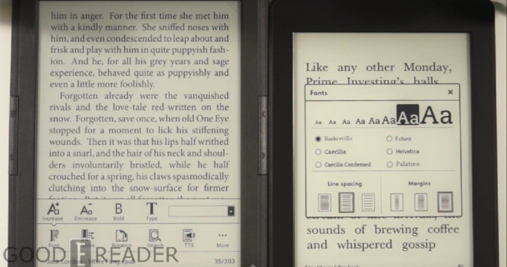 Onyx Boox T68 Lynx Vs Amazon Kindle Paperwhite 2