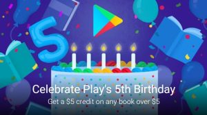 Google Play Books is offering $5 in free ebook credit