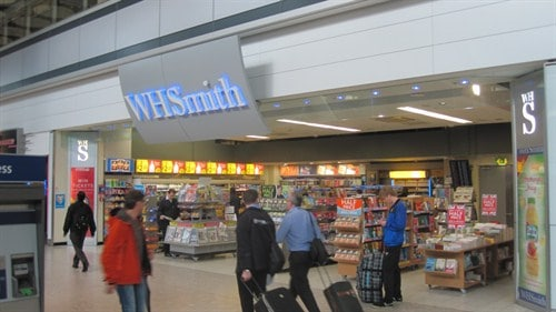 WH Smith - Arrivals Hall - London Heathrow Airport car hire