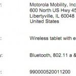 Wi-Fi only Motorola XOOM at FCC