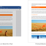 Microsoft Office Suite for iPad Gains Printing Functionality