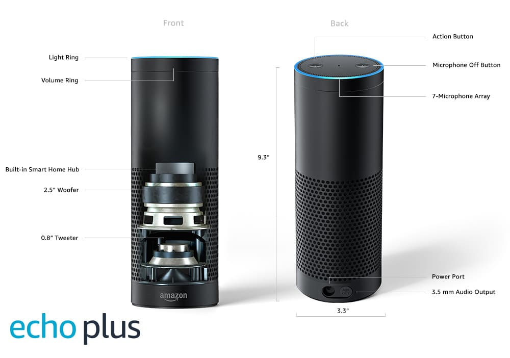 amazon echo plus with alexa. Black Bedroom Furniture Sets. Home Design Ideas
