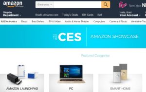 Amazon has a dedicated CES Electronics Category