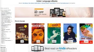 Amazon India now offers Kindle e-books in 5 regional languages