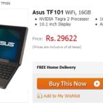 Asus Eee Pad Transformer Price Slashed in India