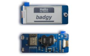 Badgy is an open source E Ink badge