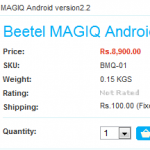 Beetel Tablet Named Magiq Makes Brief Online Appearance