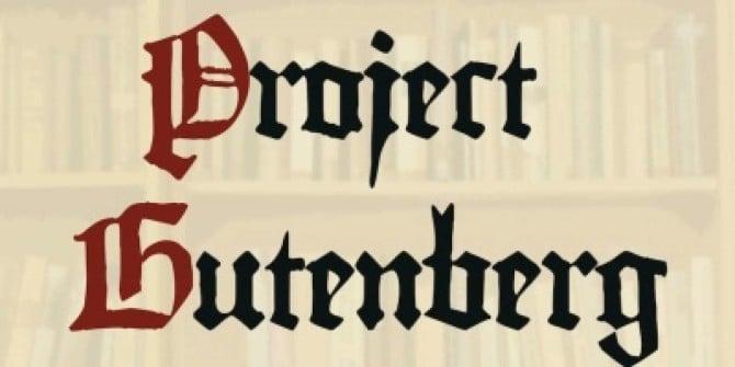 Risultati immagini per project gutenberg