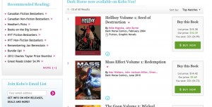 Dark Horse Comics Arrive on the Kobo Vox eReader