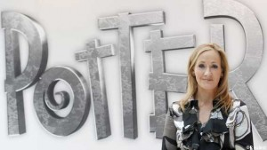 British author JK Rowling, creator of the Harry Potter series of