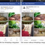 Facebook for Android Test Drives WhatsApp Integration