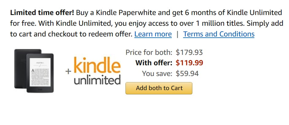 Amazon is giving away a free 6 month subscription to Kindle