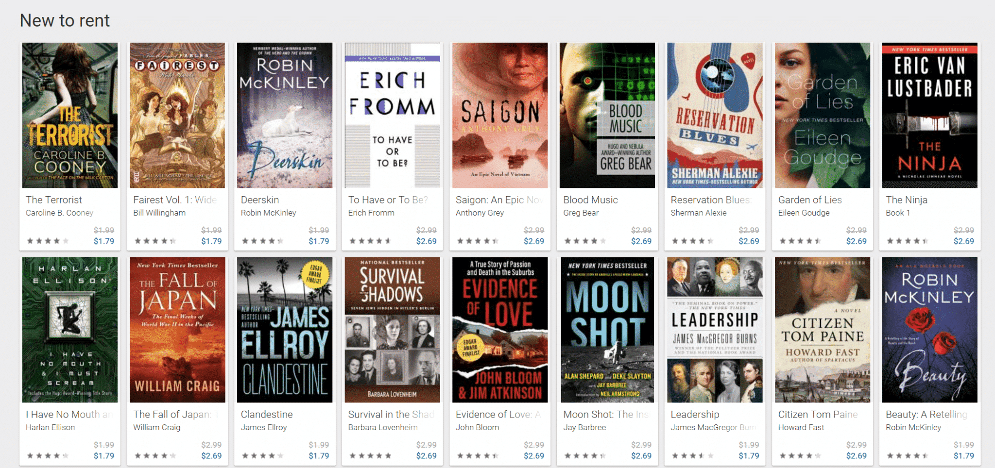 Google Play is now renting ebooks