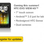 HTC Evo View 4G to run Honeycomb