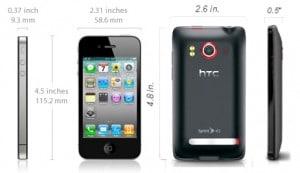 iPhone vs HTC EVO Battle