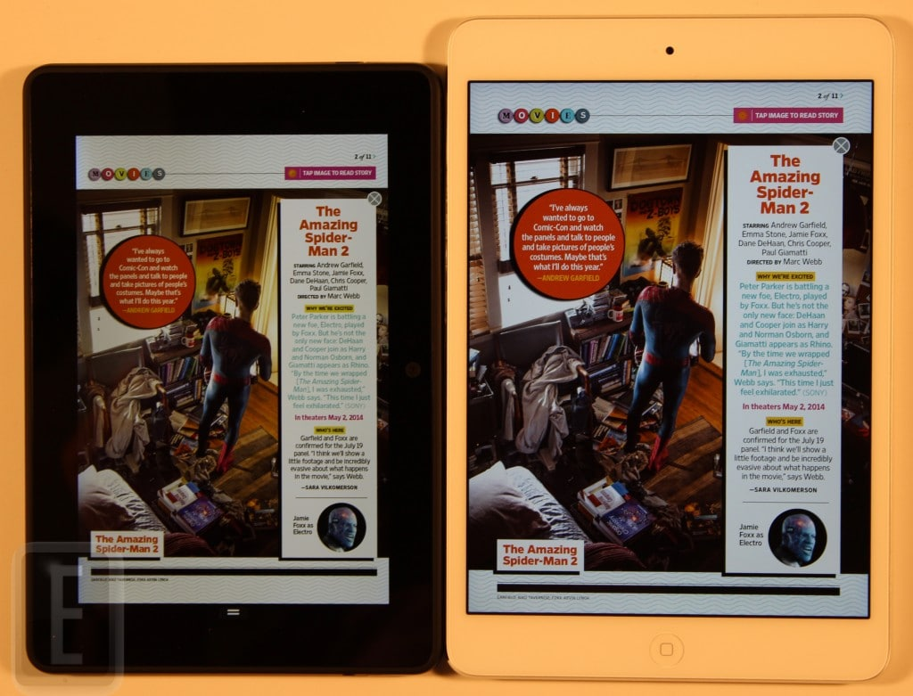 Apple Ipad Vs Kindle: Amazon Kindle Fire HDX 7 Vs Apple IPad Mini With Retina