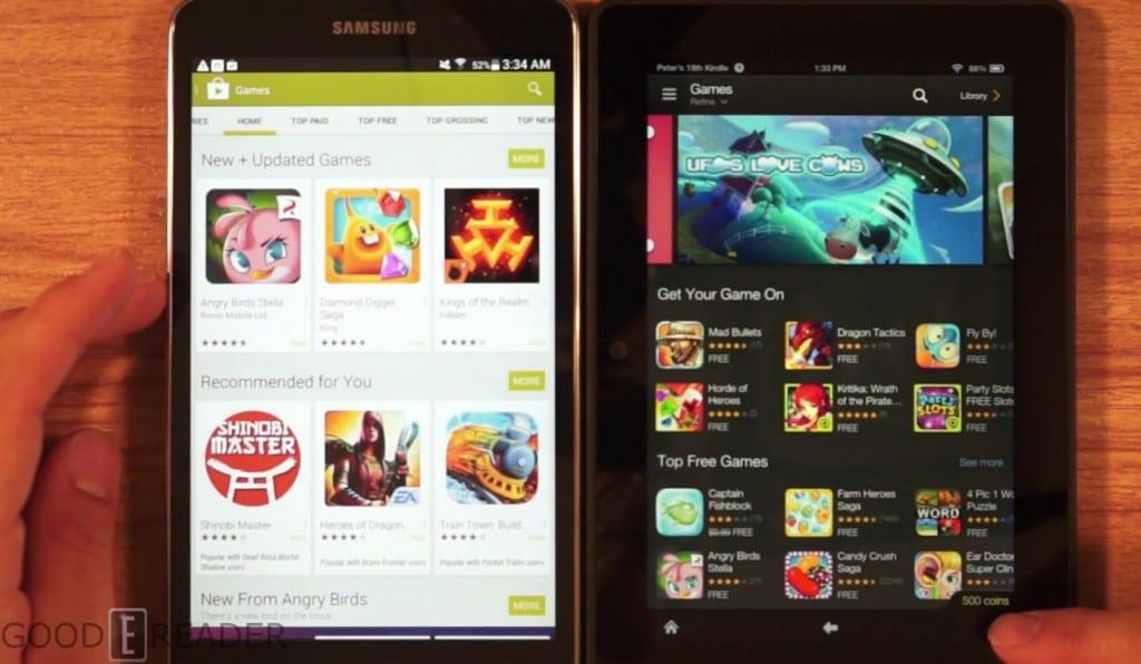 Kindle Vs Sony Reader: Amazon Kindle Fire HDX 7 Vs Samsung 4 Nook