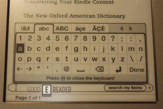 new kindle keyboard