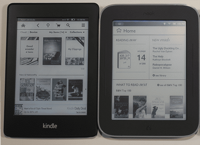 Nook Reader Vs Kindle Reader: Amazon Kindle PaperWhite VS. Nook Simple Touch With Glowlight