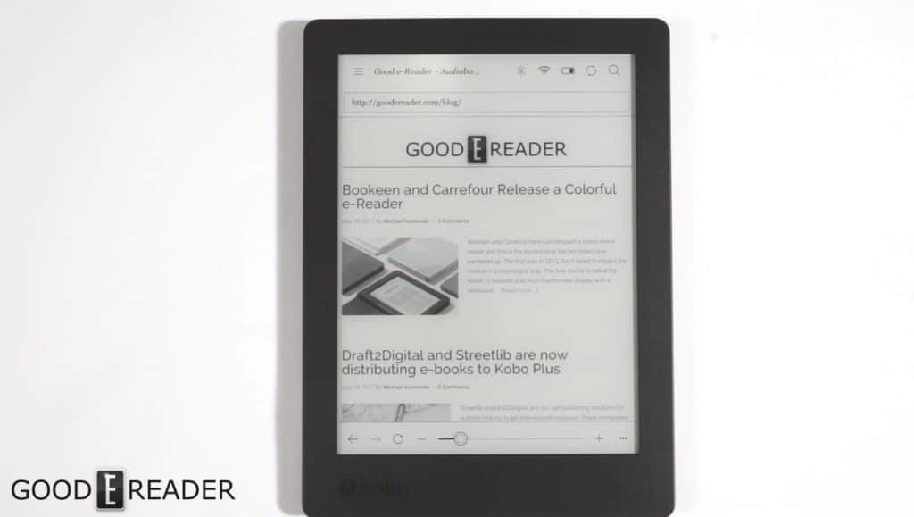Kobo aura h2o edition 2 video review for Housse kobo aura h2o edition 2