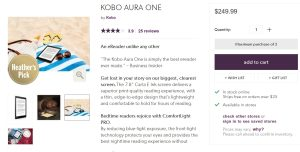 Kobo Aura One e-Reader is back in Stock on the Indigo Website