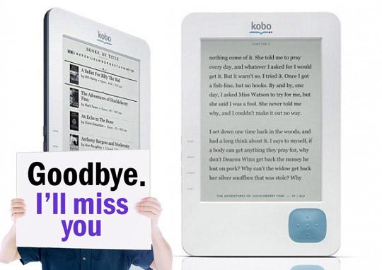 kobo e-reader is gone
