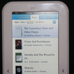 Hands on Review of the Sharper Image Literati E-Reader
