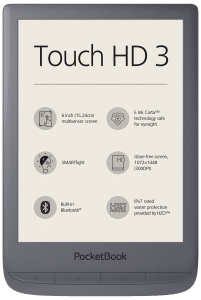Pocketbook Touch HD 3 is waterproof and has a color temperature system