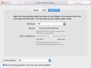 Apple Unveils Night Shift Reading Mode for macOS Sierra