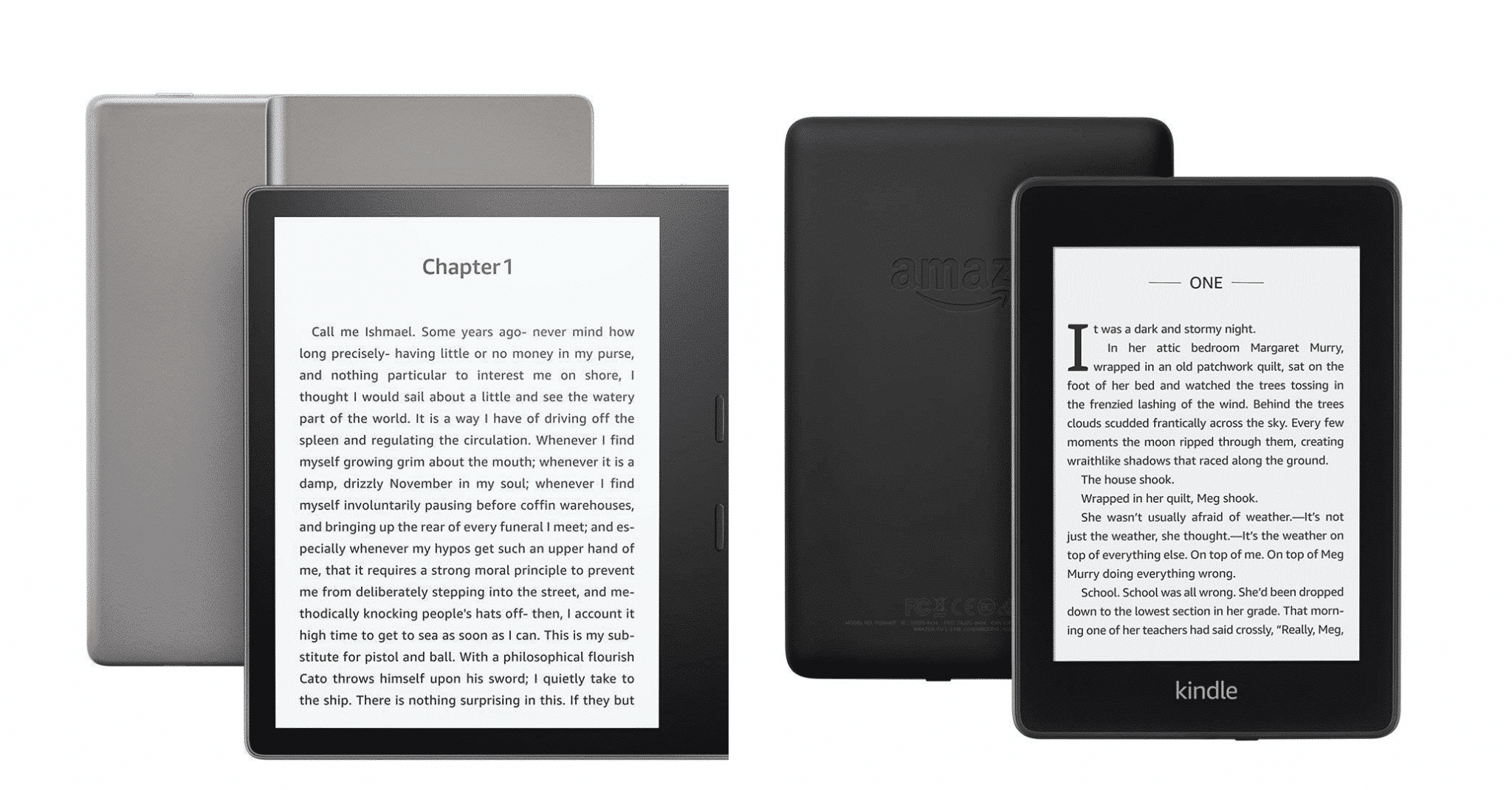 Amazon Kindle Oasis 2 vs Kindle Paperwhite 4
