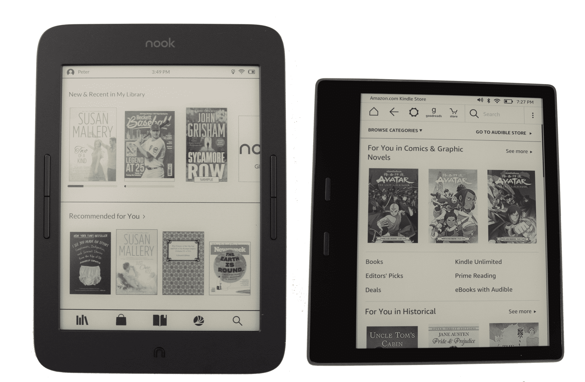 Nook Reader Vs Kindle Reader: Amazon Kindle Oasis 2 Vs The Barnes And Noble Nook