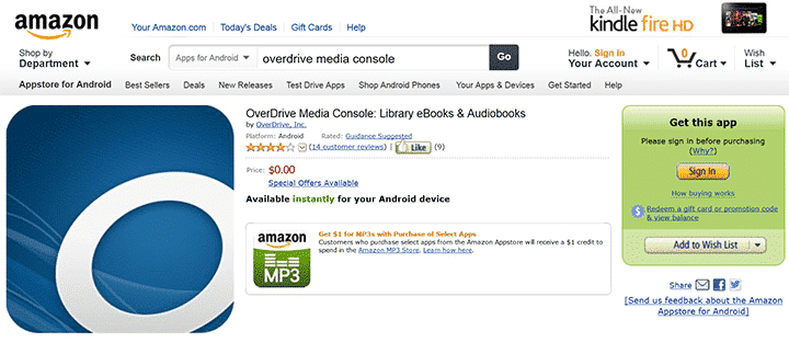 how to download overdrive on kindle
