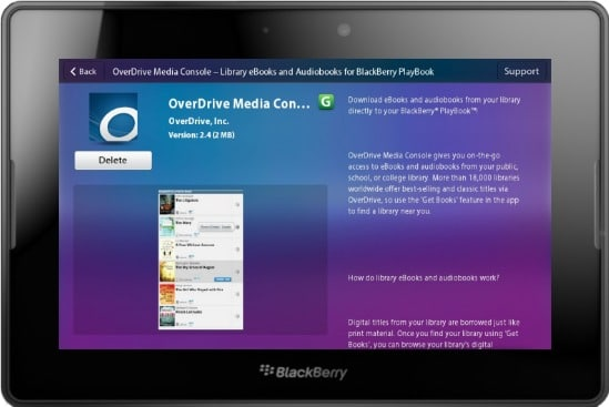 overdrive-media-console-blackberry-playbook | Good e-Reader