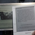 Pixel QI Technology at CES 2011 – Pixel QI vs. Amazon Kindle e-ink Comparison