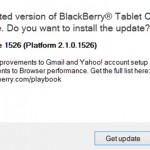 Blackberry Playbook Gets New Firmware Update