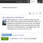 Google Integrates eBook Sharing in Their Social Networking Site