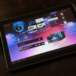 Samsung Galaxy Tab 10.1 appears in a video