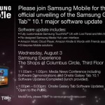 Samsung Galaxy Tab 10.1 to Get a Major Update on August 3