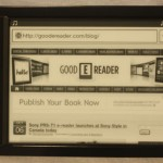 Hands on Review of the Sony PRS-T1 e-Reader