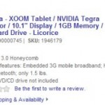 Motorola XOOM Pre-order from Thursday and for $1200