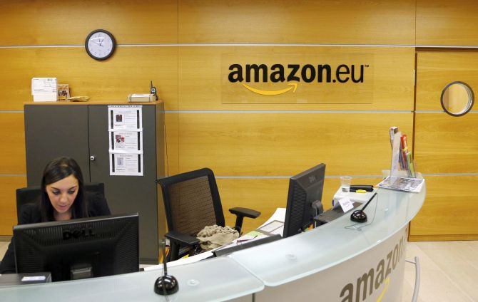 View of the reception of Amazon Europe Holding Technologies in Luxembourg in this picture taken on November 20, 2012. To match Special Report TAX-AMAZON/   REUTERS/Francois Lenoir (LUXEMBOURG  - Tags: BUSINESS POLITICS) - RTR3B9F8