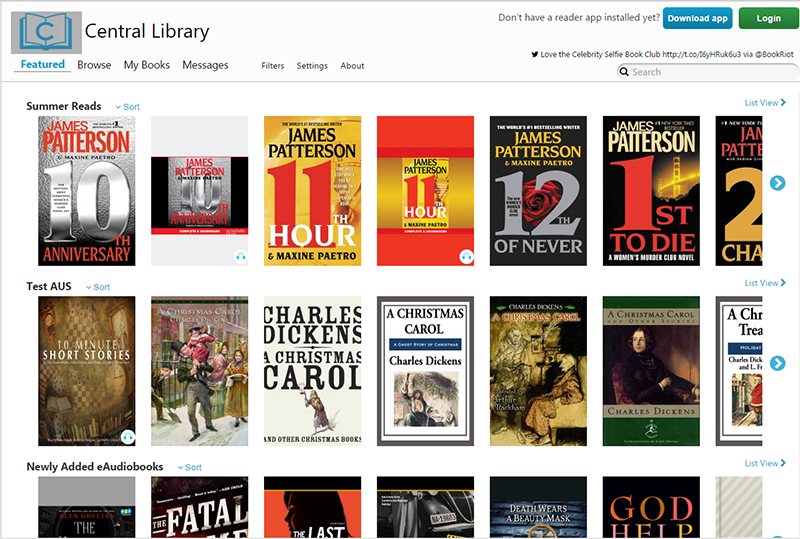 3M Cloud Library Web Patron