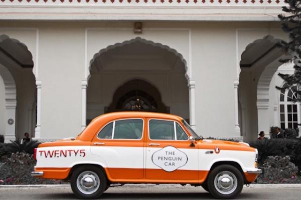 6426-Penguin-Ambassador-in-front-of-a-Jaipur-mansion-600x400