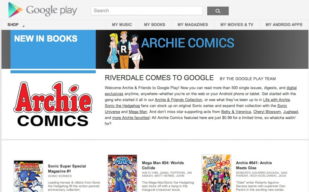 Archie in Google Play