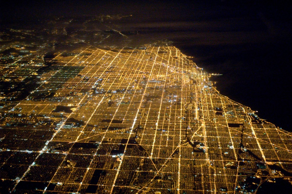 Chicago-view-from-an-airplane-Illinois-United-States