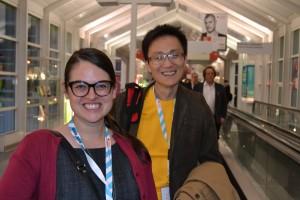 Ashleigh Gardner and Allen Lau of Wattpad.