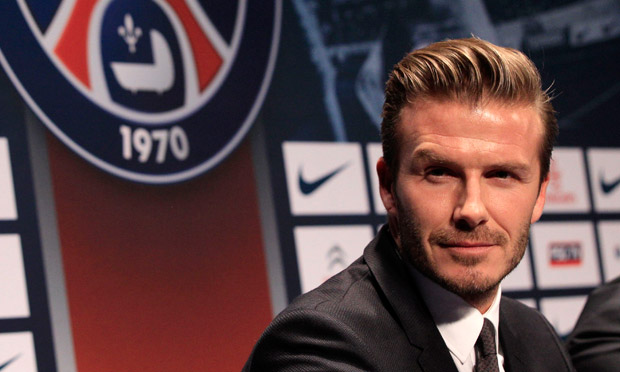 David Beckham unveiled as Paris Saint-Germain's latest signing at packed news conference - video