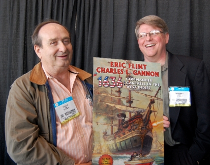 """Eric Flint (left) and Charles E. Gannon (right), authors of the new novel in the best-selling """"1632″ alternate world"""